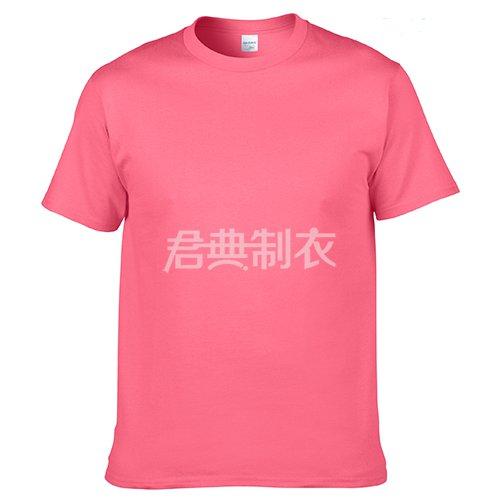 西瓜红纯棉文化衫