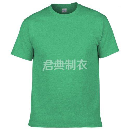 草绿色纯棉文化衫
