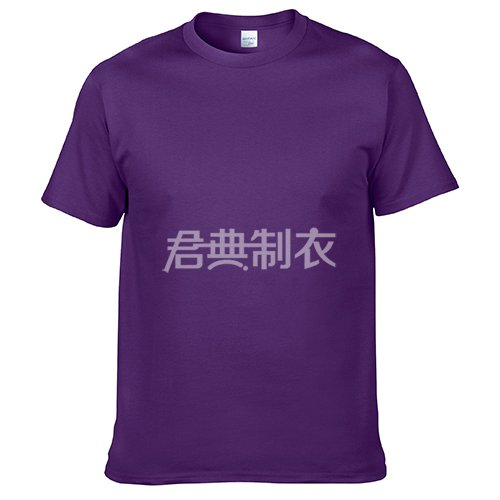 紫色纯棉文化衫
