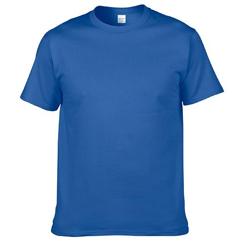 宝蓝色纯棉T恤,宝蓝色纯棉T恤款式图片 A1-018