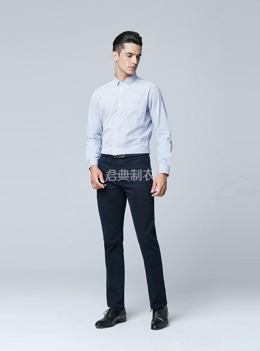 男士格子衬衫1