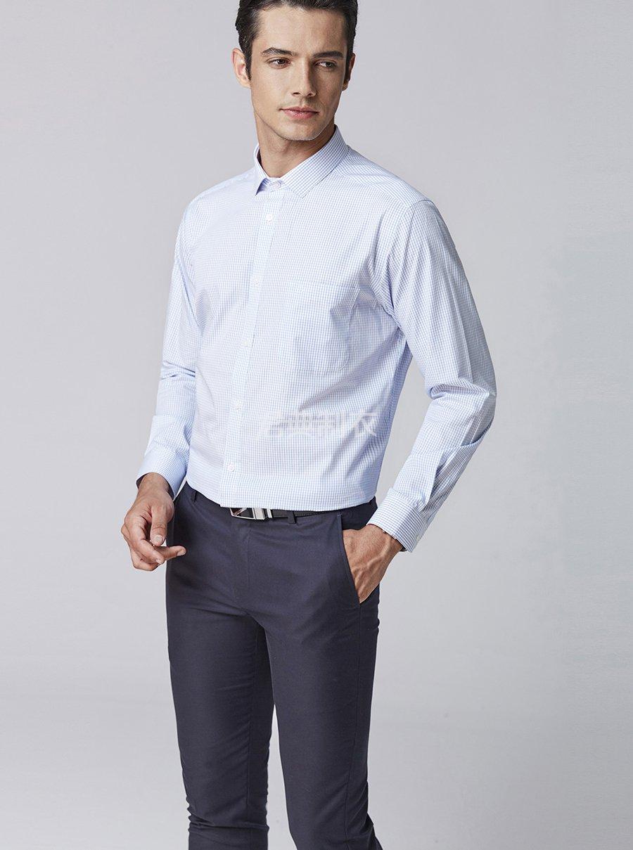 男士格子衬衫6