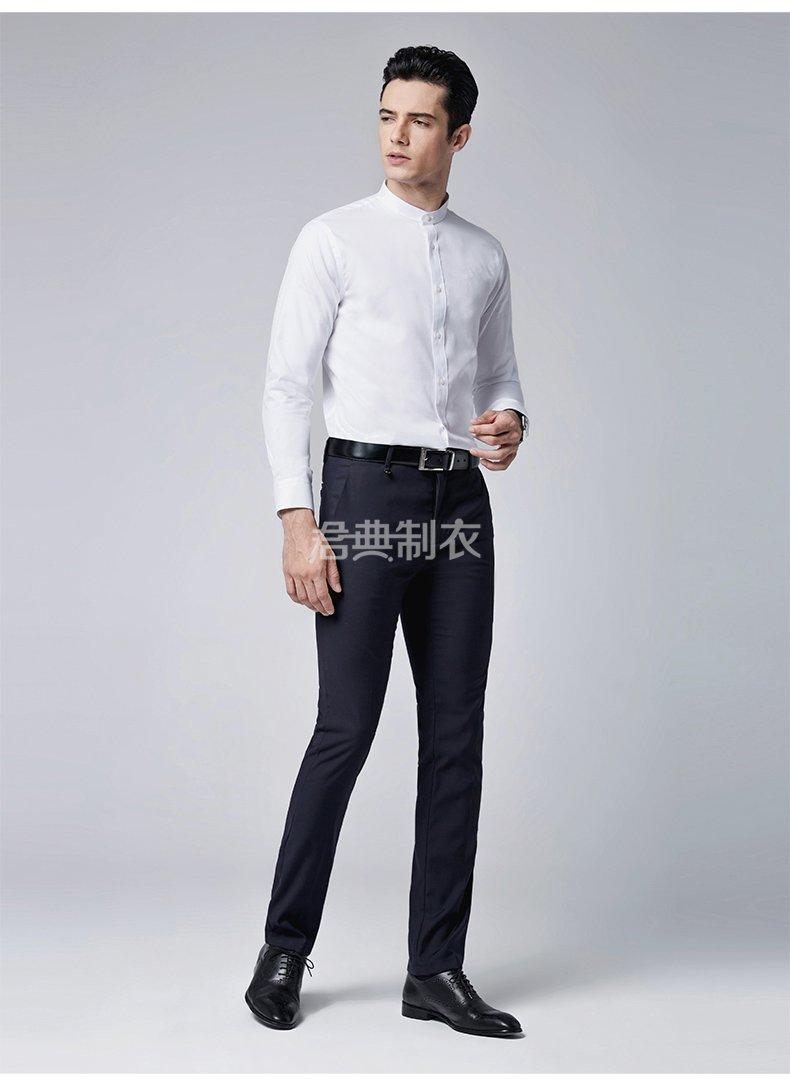 时尚小立领长袖衬衫1