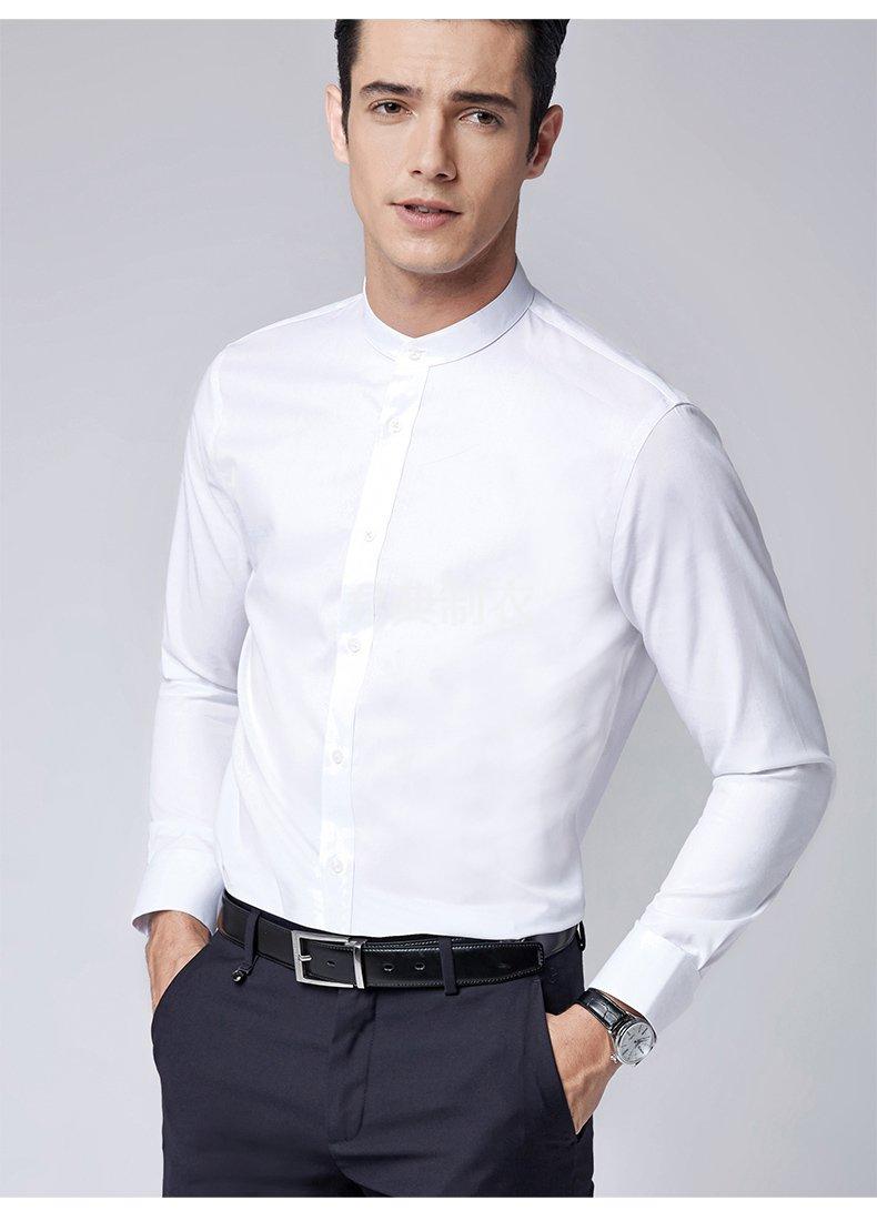 时尚小立领长袖衬2