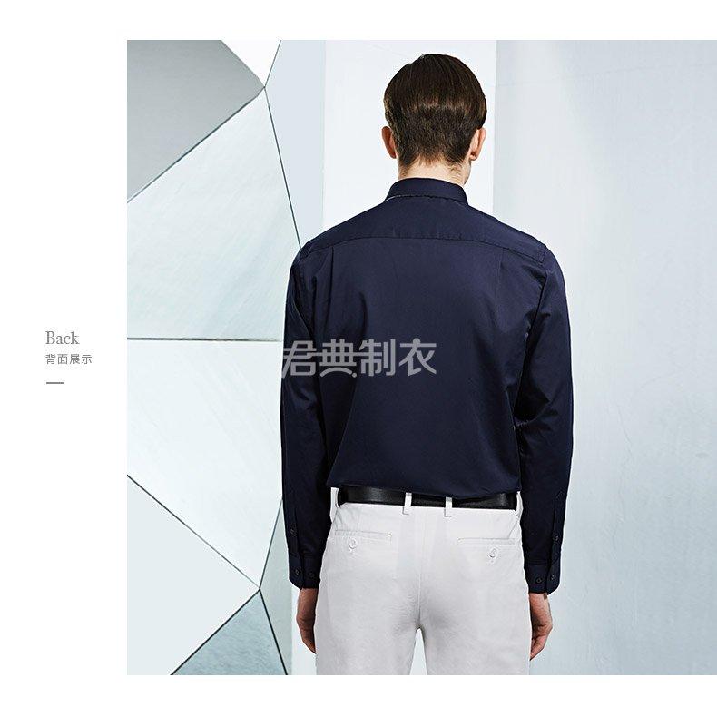 男士藏蓝色全棉长袖衬衫3