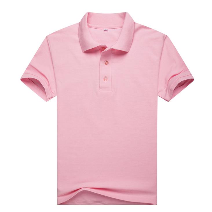 粉色T恤衫,短袖翻领粉色T恤衫万博体育手机端款式 A2-007