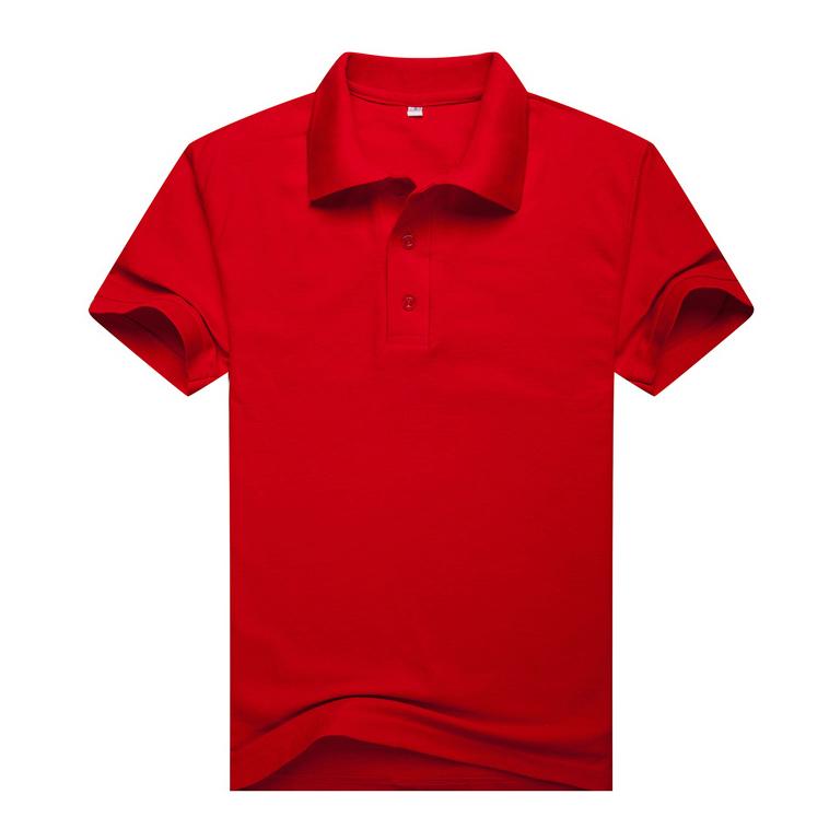 大红翻领T恤衫,中国红翻领T恤衫万博体育手机端款式 A2-006