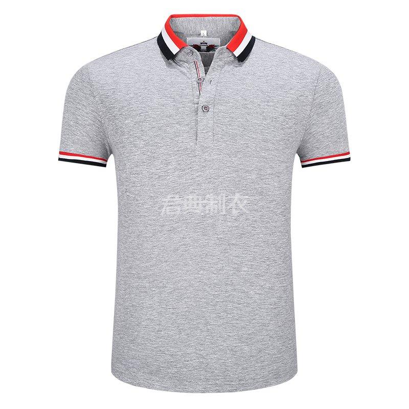 麻灰色榉木纤维POLO衫
