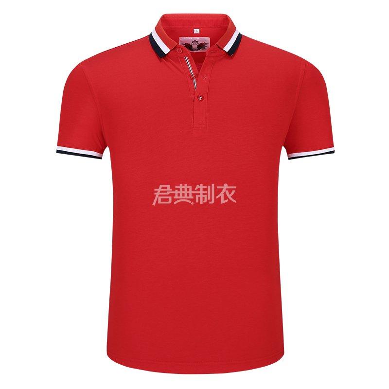 大红色榉木纤维POLO衫