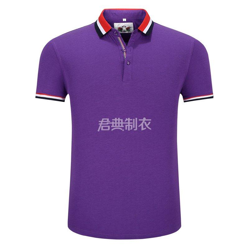 紫色榉木纤维POLO衫