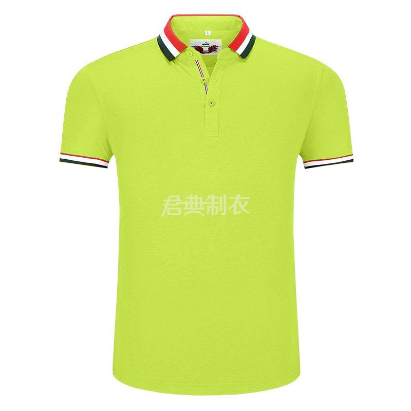 果绿色榉木纤维POLO衫