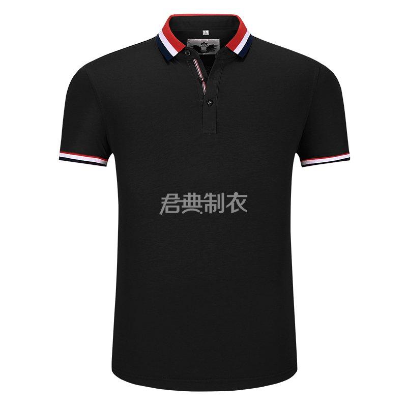 黑色榉木纤维POLO衫