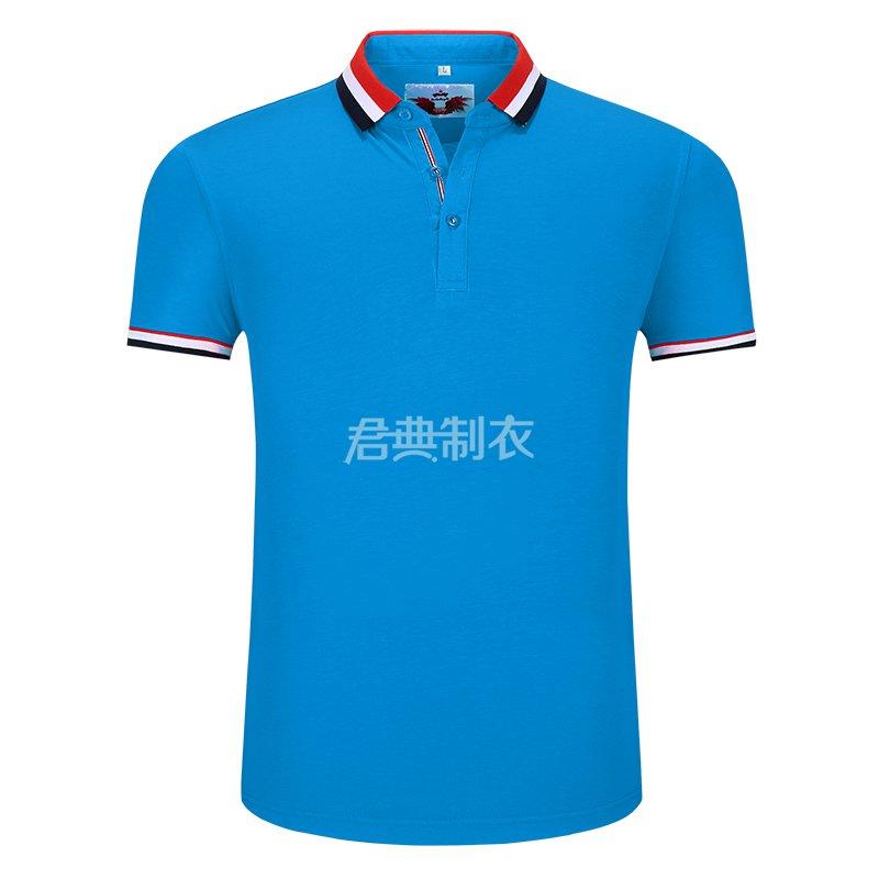 湖蓝色榉木纤维POLO衫