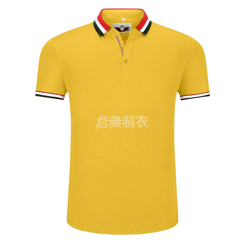 黄色榉木纤维POLO衫