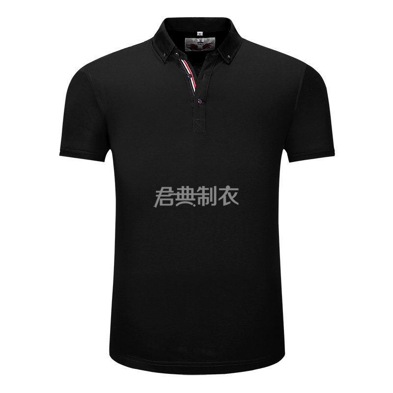 黑色万博体育手机版登录入口POLO衫